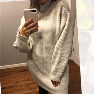 Oversized beige sweater from Zara